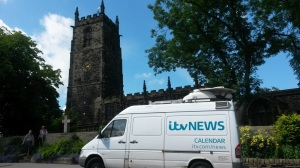 RW July 02 Penistone church with ITV van