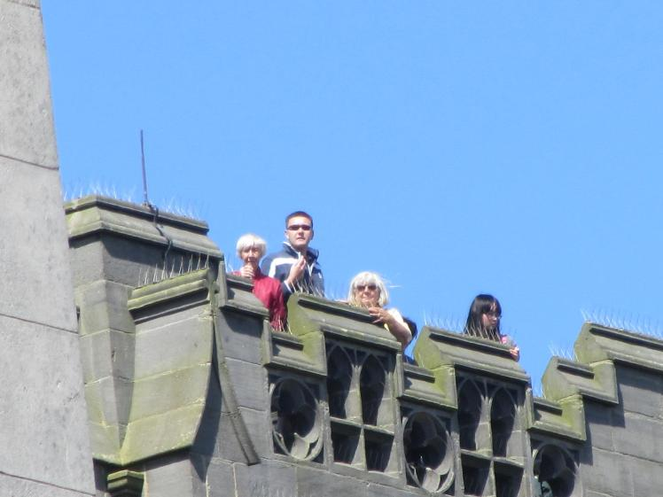 RW July 10 Harrogate band on tower top