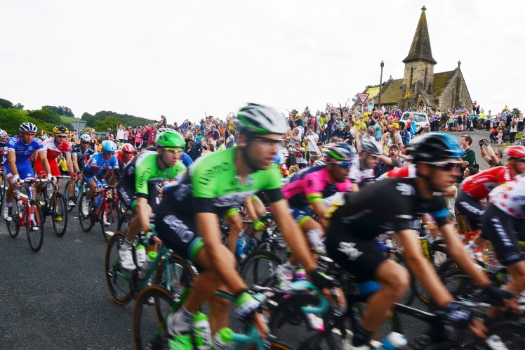 Ch 38 Le Tour passes Blubberhouses church