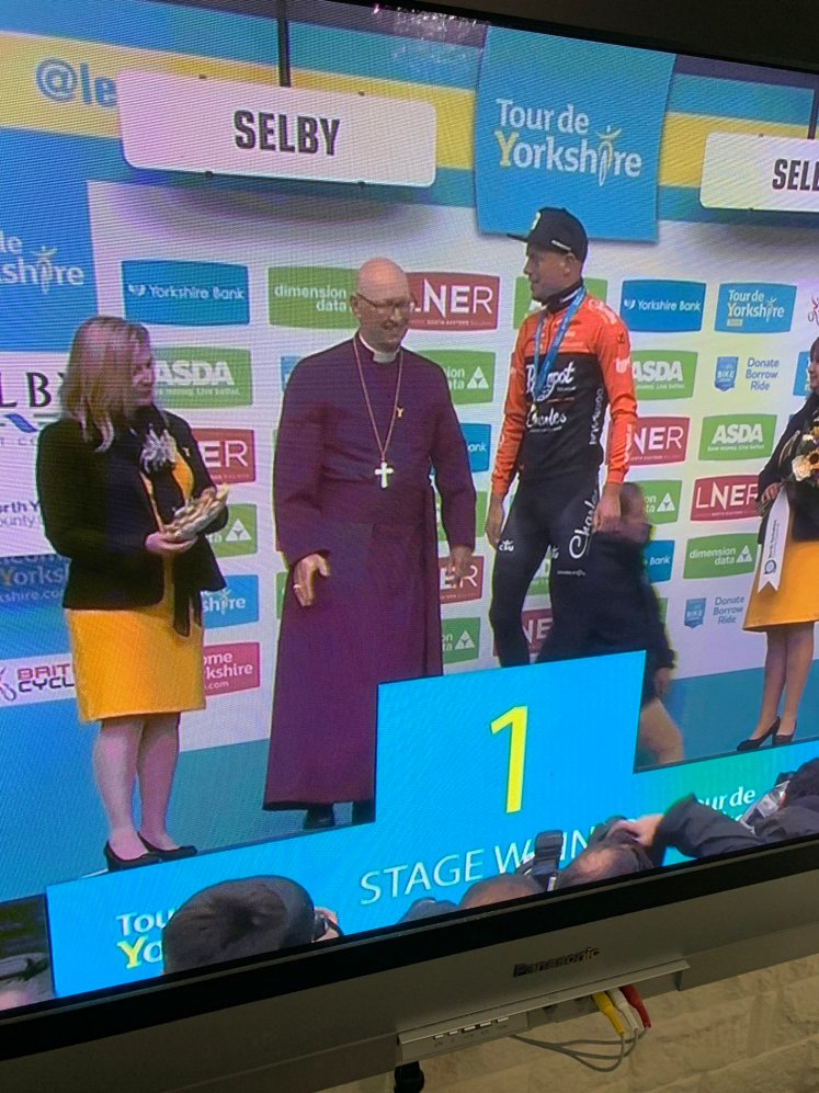 Twitter Cycling Bishop on Podium